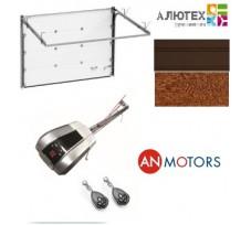 Комплект секционных ворот Alutech Trend с приводом AnMotors